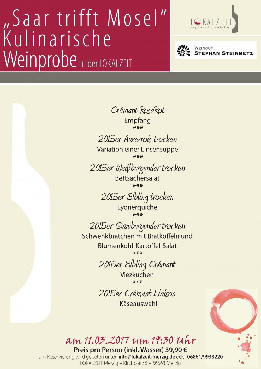 Weinprobe mit dem Weingut Stephan Steinmetz