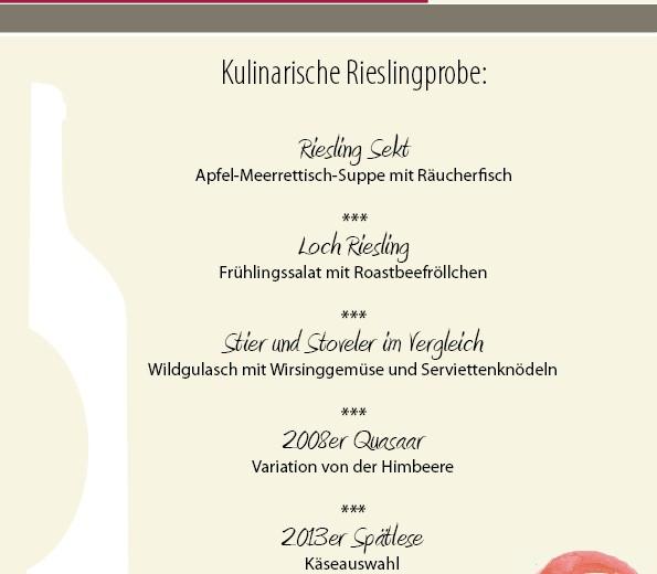 Weinprobe mit dem Weingut Herrenberg aus Schoden