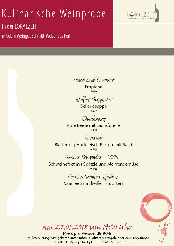 Kulinarische Weinprobe mit dem Weingut Schmitt-Weber – Ausgebucht